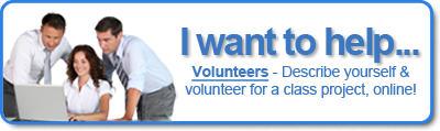 I want to help! Create your volunteer profile